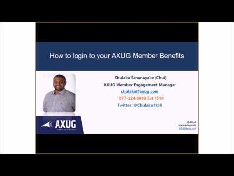 Video How to Login to your AXUG Member Benefits