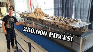 Giant LEGO USS Intrepid WWII Aircraft Carrier – 22 Feet Long!