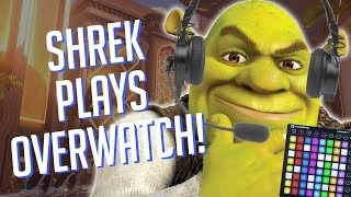 SHREK Plays OVERWATCH! Soundboard Pranks in Competitive!