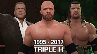 WWE 2K17: The Evolution of Triple H (1995 - 2017)