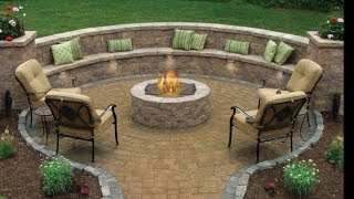 Installing Circle Paver Kit, Pathway, Firepit, Retaining Wall And Seating Area(Part 1)