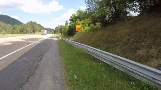 TRASH on Virginia I-64 east at Exit 10-  29 AUG 2016