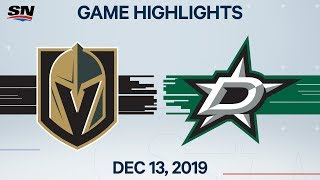 NHL Highlights | Golden Knights vs. Stars - Dec. 13, 2019