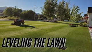 LEVELING A LAWN. THE HOW And WHY To TOP DRESS THE LAWN