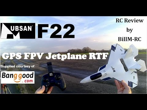 Hubsan F22 GPS FPV Airplane RTF review - Unboxing, Setup & CRASH Test (Part 1)