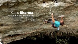 "Chris Sharma sends ""Dessèchement Planétaire"" [5.14b] FA"