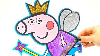 Свинка Пеппа раскраска и поделки для детей
