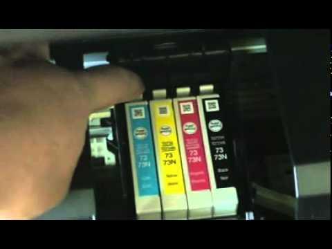 EPSON TX300f cambiar cartuchos.