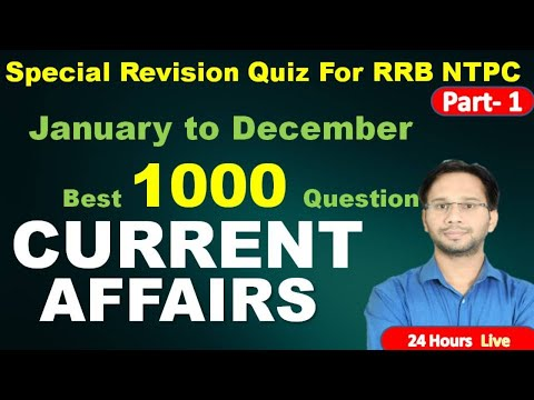 Top 1000 January To December Current Affairs 2020 | Part 1|Current Affairs 2021 | Current GK
