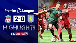 SUBSCRIBE ► http://bit.ly/SSFootballSub PREMIER LEAGUE HIGHLIGHTS ► http://bit.ly/SkySportsPLHighlights Highlights from the Premier League where goals from Sadio Mane and Curtis Jones, his first in the league, secured a 2-0 victory for Liverpool over Aston Villa. Villa have now taken just 2 points from there last five matches, leaving them battling relegation in their final games of the season.  Watch Premier League LIVE on Sky Sports here ► http://bit.ly/WatchSkyPL ►TWITTER: https://twitter.com/skysportsfootball ►FACEBOOK: http://www.facebook.com/skysports ►WEBSITE: http://www.skysports.com/football  MORE FROM SKY SPORTS ON YOUTUBE: ►SKY SPORTS CRICKET: https://bit.ly/SubscribeSkyCricket ►SKY SPORTS BOXING: http://bit.ly/SSBoxingSub ►SOCCER AM: http://bit.ly/SoccerAMSub ►SKY SPORTS F1: http://bit.ly/SubscribeSkyF1
