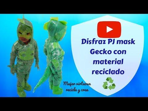 PASO A PASO▶️ DISFRAZ PARA NIÑO hecho con bolsas plásticas- Diy Costume PJ Mask 👦👏😍