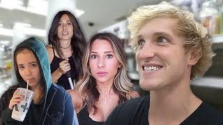 Logan Paul annoying his Assistants (Ayla Lydia, Judi)