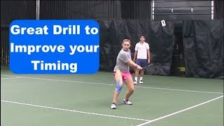 Tennis Drill   Improve Your Groundstrokes By Improving Your Timing