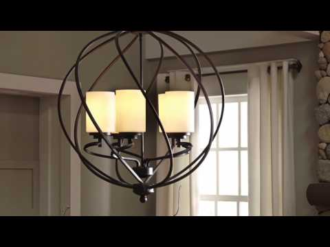 Video for Goliad Blacksmith Five-Light Pendant