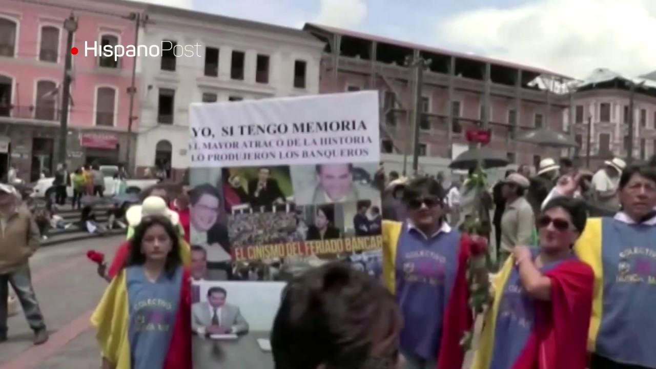 """Oficialistas ecuatorianos acusan a candidato Guillermo Lasso de """"empobrecer"""" al país"""