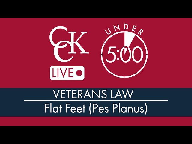 Flat Feet VA Disability Ratings (Pes Planus)