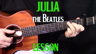 how to play Julia by The Beatles_John Lennon - acoustic guitar lesson