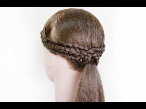 လြယ္ကူရိုးရွင္းေသာ က်စ္ဆံၿမွီးဆံပင္ စည္းနည္း /hair style/arrange/braid/easy/howto