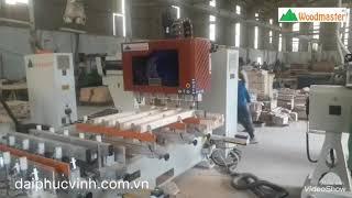 Máy làm mộng âm 5 đầu CNC