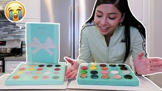 BAKING MY PALETTE INTO A CAKE  *fail*