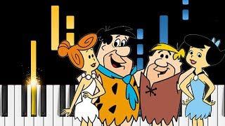 The Flintstones - Theme Song - EASY Piano Tutorial