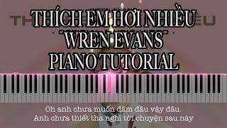 THÍCH EM HƠI NHIỀU - WREN EVANS | Piano cover, Piano Tutorial and sheet music PDF