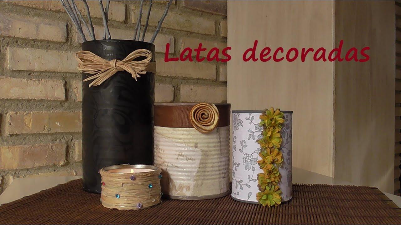 ♻ Cómo reciclar y decorar unas latas. Muy fácil. DIY ♻