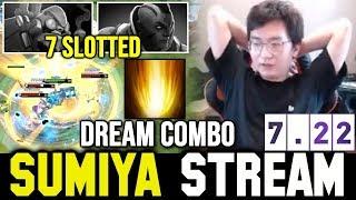 SUMIYA 7.22 Big Combo vs 7 Slotted AntiMage & Tinker   Sumiya Invoker Stream Moment #756