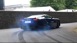 Crazy Lexus LFA Revs, drift, burnout and flat out accelerations!
