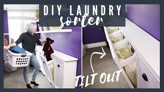 Beautiful DIY Tilt-Out Laundry Organizer For Extreme Sorter!! | The Diaries Of DIY Danie