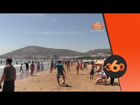 العرب اليوم - شاهد: إقبال المصطافين من داخل وخارج المغرب على شاطئ أغادير