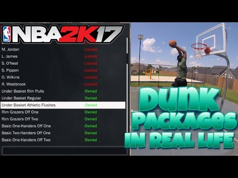 NBA2K17 IN REAL LIFE!?! DUNK PACKAGES IN REAL LIFE!!