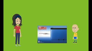 Caillou gets a Nintendo 3ds XL/Ungrounded
