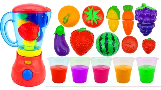 Learn Colors with Fruit Blender Toys Slime Clay Surprise Toys Nurser Rhymes Kids Videos
