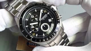 Mens Fossil Decker Chronograph Steel Watch CH2600
