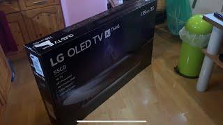 LG OLED55C8LLA OLED Fernseher Ultra HD Smart TV unboxing, Montage, einrichten und Anleitung komplett