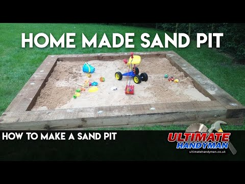 How to make a sand pit