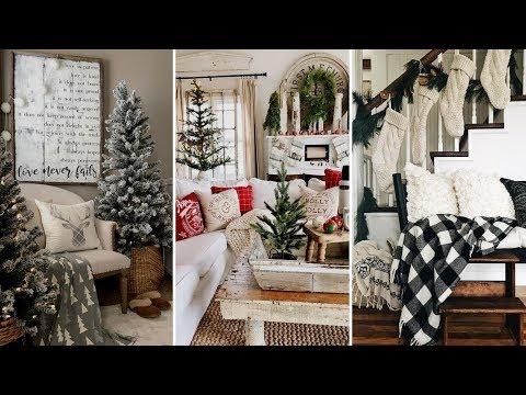🎄DIY Rustic Farmhouse style Christmas living room decor Ideas  Christmas Home decor  Flamingo Mango