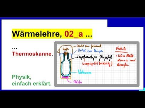Wie funktioniert die Thermoskanne. - - Thermodynamik 02_a, Wärmedämmung,  Wärme ,,einfangen