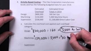 Managerial Accounting - Traditional Costing & Activity Based Costing (ABC)