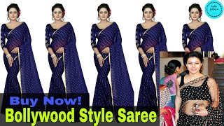 Bollywood Style Saree With Blouse Collection | Simple Saree With Designer Blouse | Latest Saree 2020