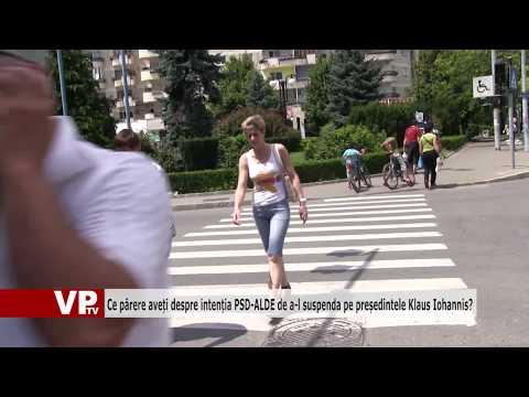 Ce părere aveți despre intenția PSD-ALDE de a-l suspenda pe președintele Klaus Iohannis?
