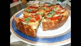 מתכון-פאי פרווה עם חציל,בצל, שמן זית,ביצים, עגבניות טחינה מהיר טעים בקלי קלות הערוץ הרשמי
