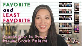 FAVORITE & LEAST FAVORITE Eyeshadow In Every Pat McGrath Palette