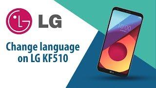 How to change language on LG KF510?