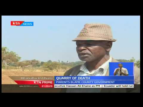 Uasin Gishu residents blame the county government after 2 pupils drowned in an abandoned quarry