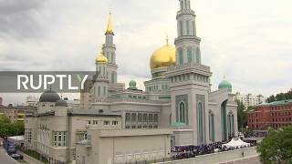 LIVE: Muscovite Muslims celebrate Eid al-Fitr at Moscow Cathedral Mosque