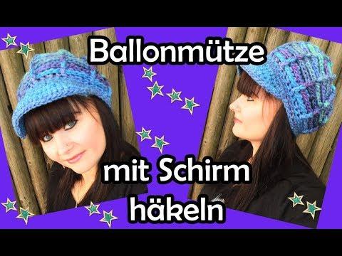 BALLONMÜTZE mit Schirm HÄKELN - Romy Fischer Häkelanleitung