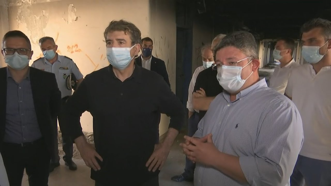 O Υπουργός Προστασίας του Πολίτη, Μιχάλης Χρυσοχοΐδης στις Αχαρνές