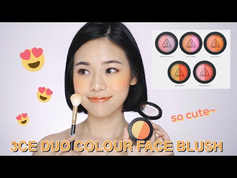 3CE DUO COLOR FACE BLUSH SWATCHES & REVIEW